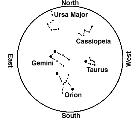 Using A Star Chart - Orion star map